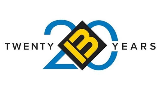 BM Roofing Contractors 20 Years Logo